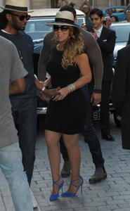 Mariah Carey- Wears A LBD Arriving At Her Hotel In Paris (6/6/15)