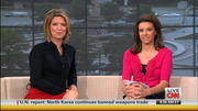 Kiran Chetry CNN -Leg and Thigh Show on Couch