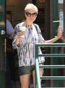 Anna Paquin in shorts leaving Starbucks in Malibu 06/18/13