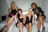 The Pussycat Dolls (without Nicole) shows legs and cleavage at Pure Nightclub in Las Vegas
